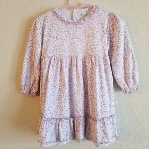 Kissy Kissy Purple Floral Dress Size 2T